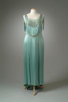 Rhinestone Embroidered Crepe Evening Gown, 1932