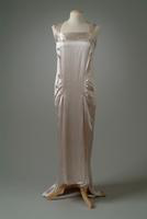 Silk Satin Evening Gown with Train, 1934