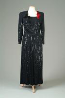 Sequined Wool Crepe Evening Gown, 1943