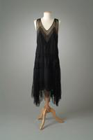 Georgette Gown with Lace Inserts, 1928