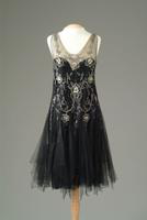 Rhinestone Embroidered Gown of Black Netting, 1926