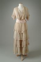 Embroidered English Net Party Dress, 1907
