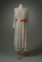 Re-embroidered Lace Party Dress, 1919