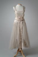 Silk Net Party Dress with Satin Ribbon Rosette, 1923