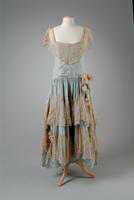 Taffeta Party Dress Trimmed with Lace, 1929