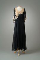 Georgette Party Dress Trimmed in Lace, 1932