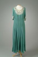 Embroidered Georgette Party Dress, 1936