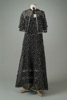 Polka Dot Organdy Garden Party Dress with Cape, 1936
