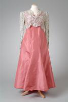 Three Piece Taffeta Party Dress with Lace Jacket, 1938