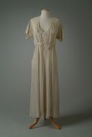 Pleated Chiffon Summer Party Dress, 1935