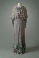 Georgette Party Dress and Cape, 1933