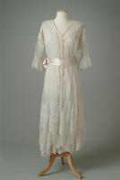 Embroidered Cotton Batiste Summer Dress, 1916