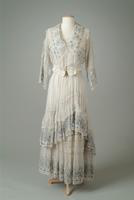 Embroidered Cotton Organdy Two-Piece Summer Dress, 1915