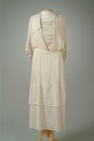 Net Summer Dress with Lace Accents, 1917