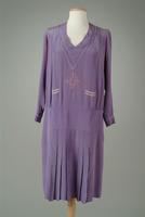 Embroidered Silk Crepe Day Dress, 1926
