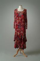Print and Textured Chiffon Dress, 1928