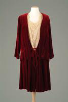 Silk Velvet Two-Piece Dinner Dress With Lace Bodice, 1928