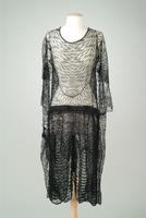 Beaded Lace Dinner Dress Shell, 1925