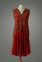 Heavily Embroidered Silk Velvet Dinner Dress, 1927