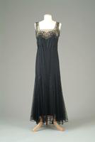 Sleeveless Lace Dinner Dress, 1936
