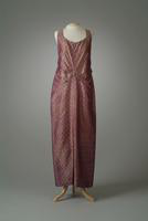 Burgundy and Gold Sleeveless Dinner Dress, 1934
