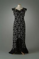 Black and White Quilted Silk Dinner Dress, 1937