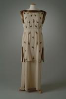 Tunic Style Beaded Crepe Dinner Dress, 1960