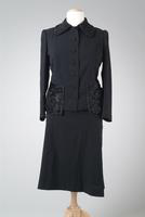 Two-Piece Wool Suit with Persian Lamb Accents, 1946