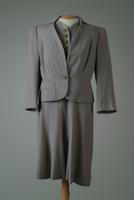 Two-Piece Wool Suit with Cotton Twill Accents, 1940