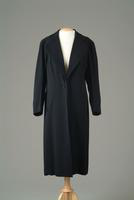 Striped Wool Day Coat with Shawl Collar, 1937