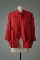 Wool Crepe Jacket with Overcollar that Ties in Front, 1935