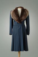 Wool Twill Winter Coat with Mouton Shawl Collar, 1939