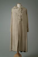 Raw Silk Day Coat with Scalloped Edge Around Front Buttons, 1933