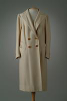 Tailored Wool Herringbone Weave Day Coat, 1936