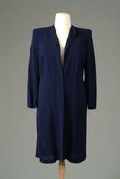 Collarless Lightweight Crepe Day Coat, 1941