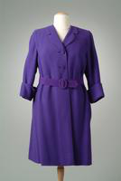 Textured Wool Day Coat with Wide Cuffs, 1947