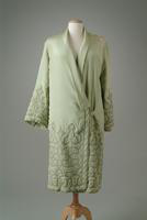 Quilted Silk Crepe Evening Coat with Kimono Style Collar, 1927