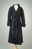 Silk Taffeta Evening Coat with Quilted Shawl Collar and Cuffs, 1935