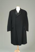 Men's Wool Single-Breasted Evening Coat with Black Velvet Collar, 1912