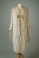 Cut Velvet Evening Wrap with Ostrich Feather Trim, 1924