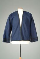 Wool Jacket with Black Braid Edging, 1935