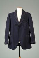 Raw Wool Smoking Jacket with Braided Frog Closure, 1926
