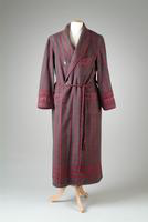 Striped Wool Robe with a Shawl Collar and Cord Edging, 1929