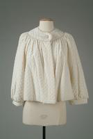 Quilted Silk Bed Jacket with Pearl Button Closure, 1935