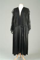 Satin and Lace Robe with Corded Button Closure, 1940