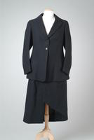 Two-Piece black Wool Riding Habit, 1931