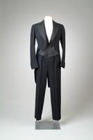 Three-Piece Set of Wool Formal Wear with Tails, 1936