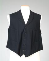 Men's Black Wool Vest, 1918