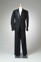 Men's Black Three-Piece Suit, 1934
