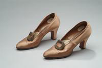 Satin Shoes with Rhinestone Buckles, 1925